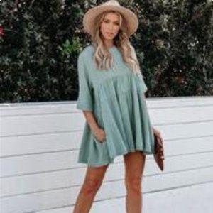 VICI Sun Will Come Green Mini dress M